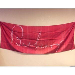 Burberry Logo Silk Scarf/Shawl